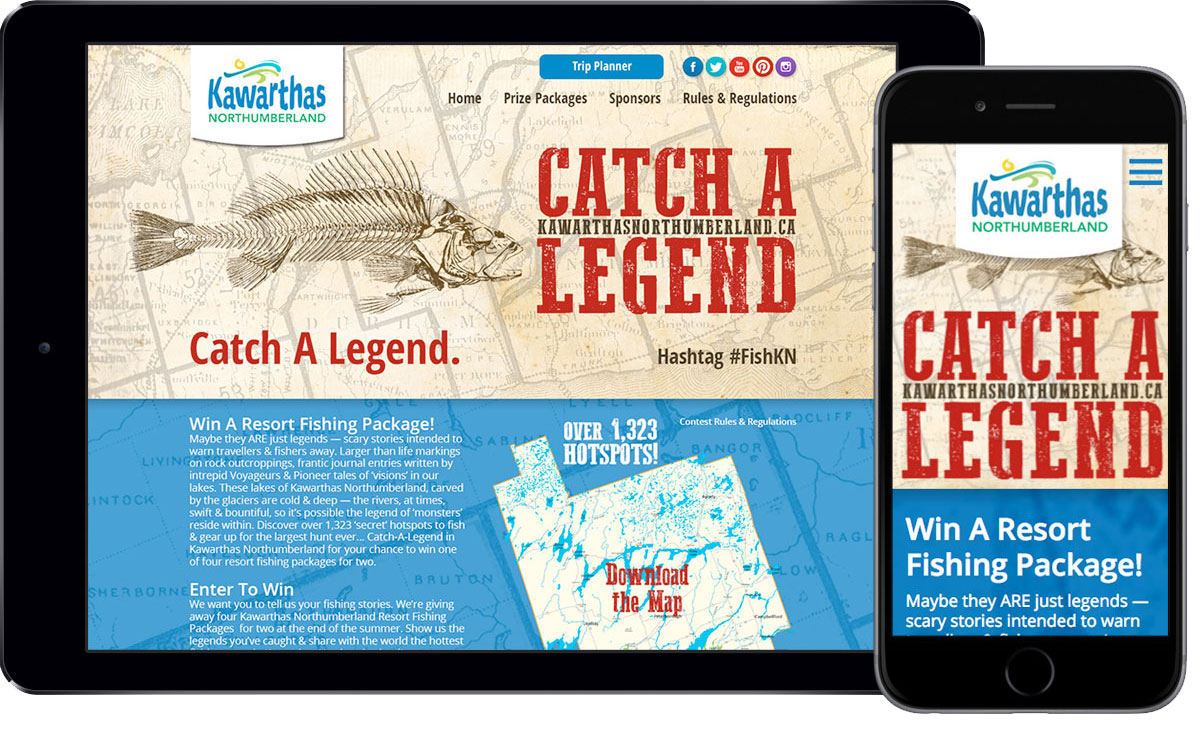 Kawarthas Northumberland - Catch A Legend - Website